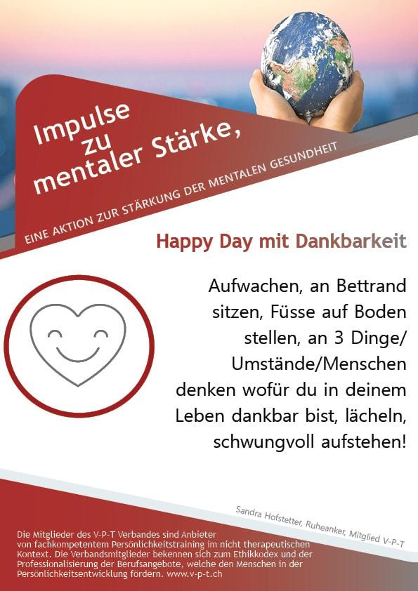 Happy Day mit Dankbarkeit